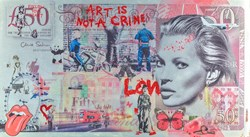 Art Is Not A Crime  by Diederik Van Apple -  sized 69x38 inches. Available from Whitewall Galleries